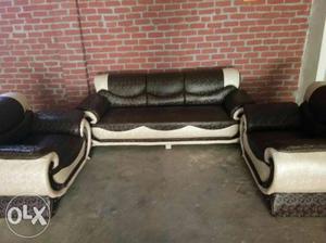 Latest design five seater sofa set dual colour