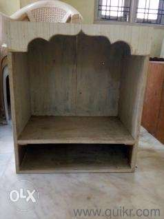 Pooja Mandir wooden with wall hooks