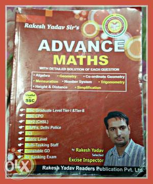 Rakesh Yadav Advance Maths - Ssc Cgl, Bank Po,