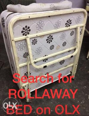 Rollaway bed for home, hotel, Pg, hostel purposes.