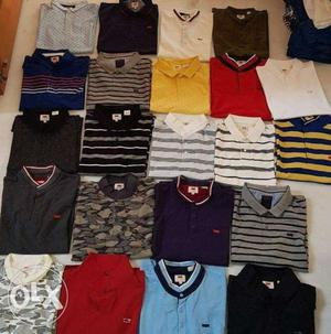Tound neck and collar set t shirt available
