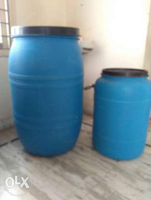 Water Drums with Lid Big one -900 small one -500
