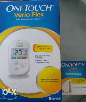 White OneTouch Verio Flex Glucose Monitoring System Box