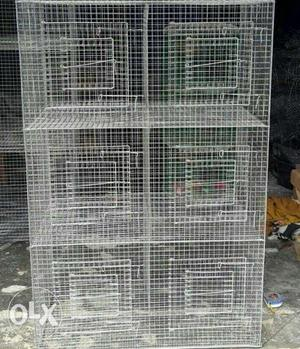 Gray Metal Wire Birdcage