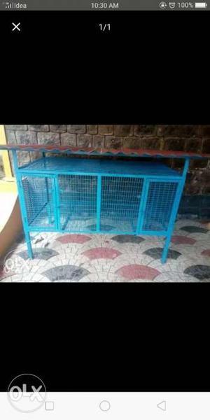 Blue Metal Chicken Coop not used