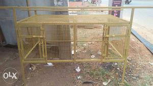 Brown Steel Chicken Coop