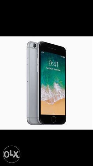 IPhone 6 gray colour 16 gb box hand free 4 mount
