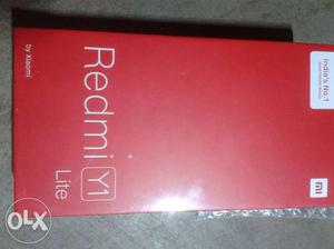 Box pack not used with bill 2 days old Redmi y1