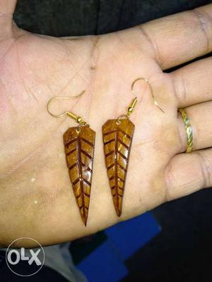 Hand made coconut shell earrings