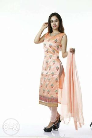 New silk collection for women's long straight stiched dress