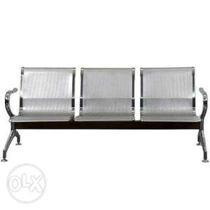 Brand new steel 3 seater visitor chair available at best