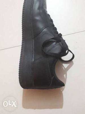 Black Nike Air Force 1 Low-top Sneaker.price negotiable.
