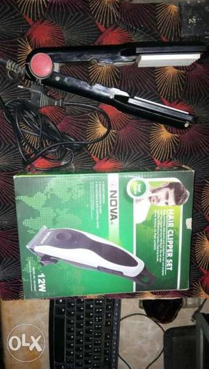 Hair straightener and hair trimmer