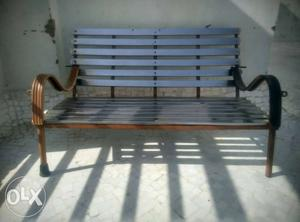 Brown And Gray Pew Bench