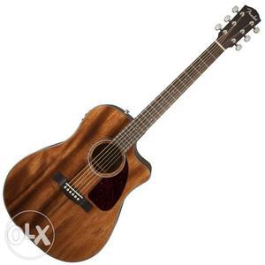 Brown Fender Cutaway Acoustic Guitar