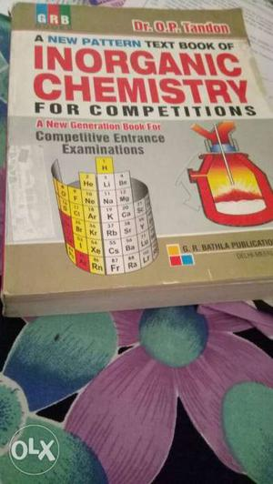 Inorganic chemistry book DR OP TANDON For all