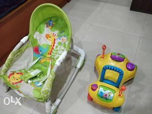 Fisher Price branded bouncer for babies...car toy