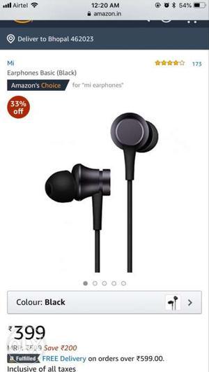 MI original earphones.. new.. 20 days old but not