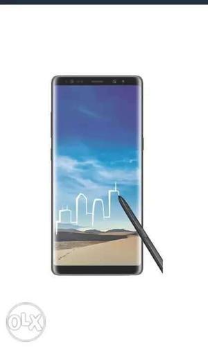 Samsung Note 8 black color 45dayz old mobile