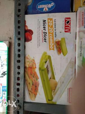 Green And White Jony Slicer Box
