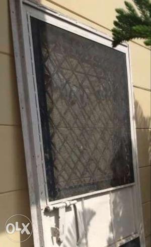 Iron door with iron frame