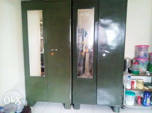 Sap green coloured strong steel cupboards with