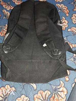Black And Gray Leather Bag