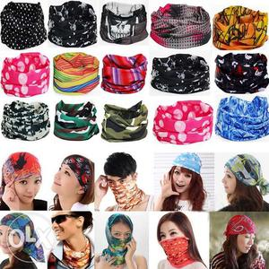 Boys and girls magic foldable scarf Qty 2 pcs