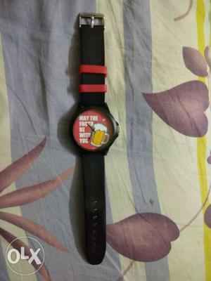 Fastrack watch cool for a casual look with 30 m