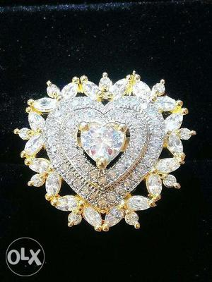 Heart shaped Ring for women with Gold Plated & Adjustable