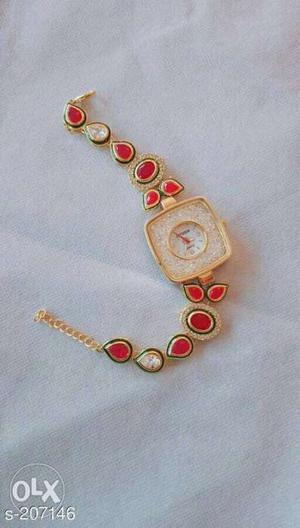 Kundan Bracelet Watches. Material: Kundan 1 piece