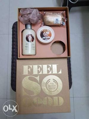Body Shop brand, body butter, shower cream, soap