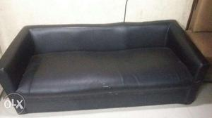 Sofa black sofa, for home or office use sofa in black color.