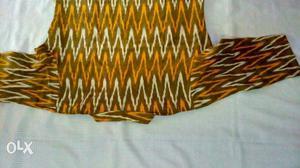 Yellow And Black Chevron Print Textile