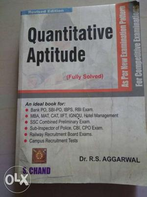 Best maths book for SSC/Bank/PO exams. R S