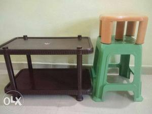 Coffee Table stools and small stand in Rs 500/-