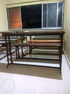Desk and Benches of good quality for sale