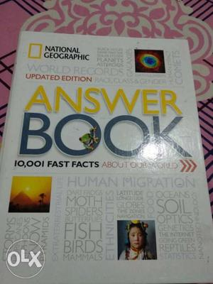 National geography answer book.new condition