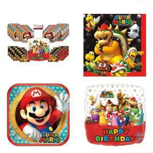 Super Mario Brothers Birthday Party Supplies Bundle Pack For
