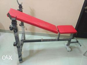 Home gym Exercise bench(inclined, straight and declined
