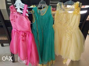Party dresses for girls... Age 5+ in excellent