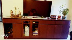 TV and Crockery Unit made of ply wood wih