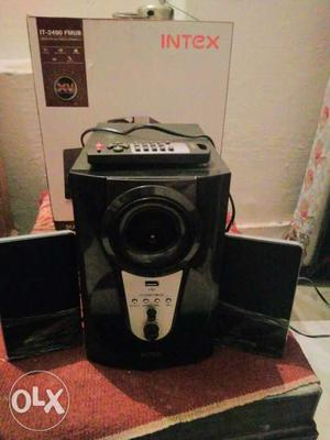 Black Intex 2.1 Channel Speakers With Remote