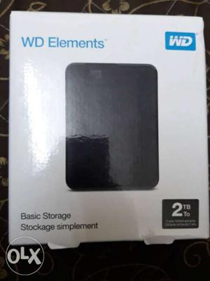 Brand new WD Hard disk, 2 TB with 2 years warranty. PRICE