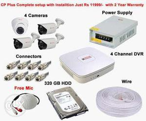 Cc TV security camera installation 1 year guarantee