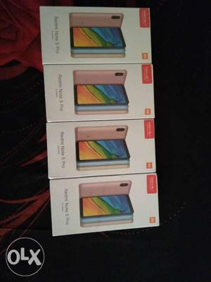 Seal pack Redmi note 5 pro (black) 4/64gb today with bill