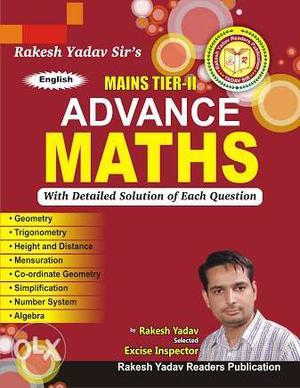 New advance maths books for SSC,Rakesh Yadav, Abhinay Sharma
