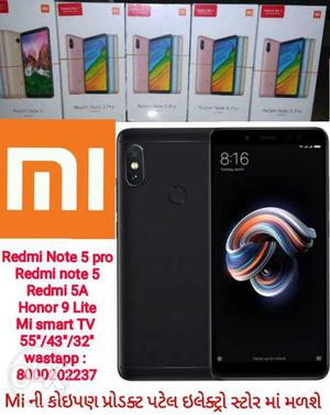 Mi Note 5 Pro Black/Gold Redmi note 5,5A,5 seal