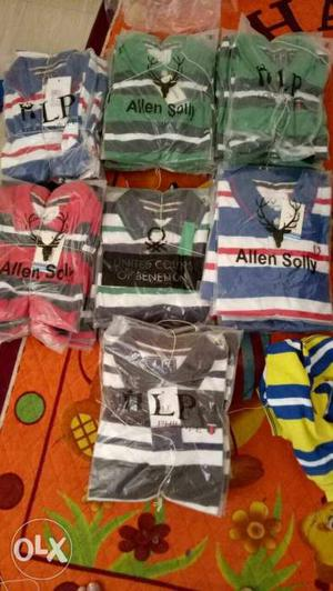Half polo t shirt lot size s m l xl totel 30 pis