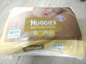 Huggies New born pampers (24pcs) 5 packs. Bought